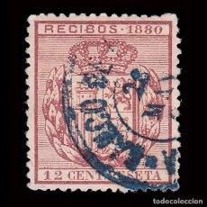 Sellos: FISCALES.1880.RECIBOS.12C.USADO.GALVEZ 44. Lote 236194840