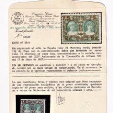 Sellos: SELLOS ESPAÑA EDIFIL 381 CON DOBLE SOBRECARGA POR ERROR, Y ADEMS INVERTIDA VER FOTOS. Lote 236196245