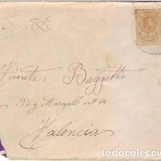 Sellos: SOBRE CIRCULADO DE LA PROVINCIA DE CASTELLÓN A VALENCIA. Lote 236519760