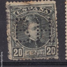 Timbres: JJ35- ALFONSO XIII CADETE 20 CTS PERFORADO BH. Lote 237061990