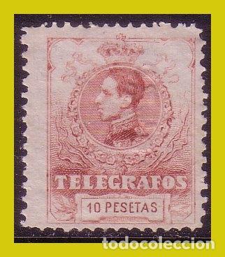 TELÉGRAFOS 1912 ALFONSO XIII, EDIFIL Nº 54 (*) CLAVE (Sellos - España - Alfonso XIII de 1.886 a 1.931 - Nuevos)