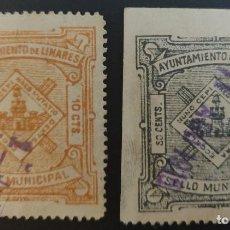 Sellos: SELLO MUNICIPAL DEL AYUNTAMIENTO DE LINARES (JAÉN). 1915. 2 VALORES. Lote 237702255