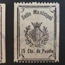 Sellos: SELLO MUNICIPAL DEL AYUNTAMIENTO DE OLOT (GIRONA). AÑOS '20 A '20. 3 VALORES. Lote 237725260