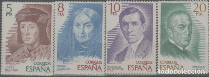 LOTE (20) SELLOS ESPAÑA PERSONAJES SERIE NUEVOS SIN CHARNELA (Sellos - España - Alfonso XIII de 1.886 a 1.931 - Nuevos)