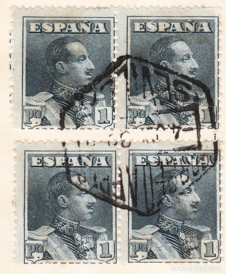 Sellos: 1930 CORREO AÉREO GRAF ZEPPELIN SEVILLA A FRIEDRICHSHAFEN 4 SELLOS ALFONSO XIII VAQUER ERROR DENTADO - Foto 3 - 209779660