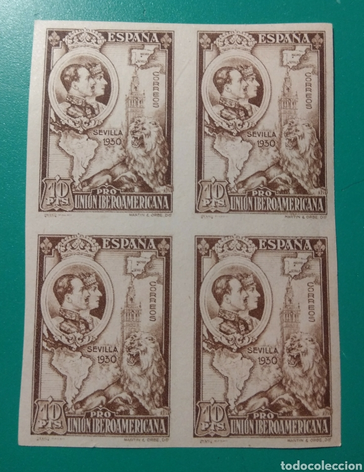 ESPAÑA. 1930. EDIFIL 580**. BLOQUE DE 4. (Sellos - España - Alfonso XIII de 1.886 a 1.931 - Nuevos)