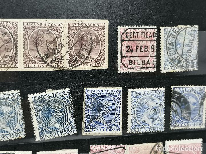 Sellos: España lote Sellos Alfonso XIII Edifil 215,217,219,221,224 Matasellos de Ciudades España - Foto 3 - 240945370