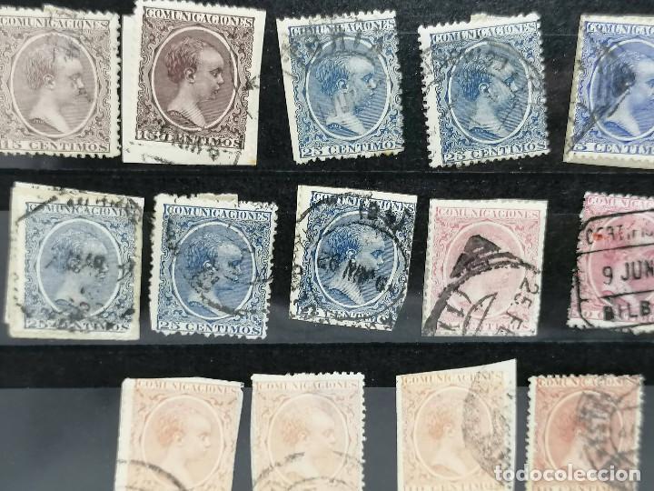 Sellos: España lote Sellos Alfonso XIII Edifil 215,217,219,221,224 Matasellos de Ciudades España - Foto 4 - 240945370