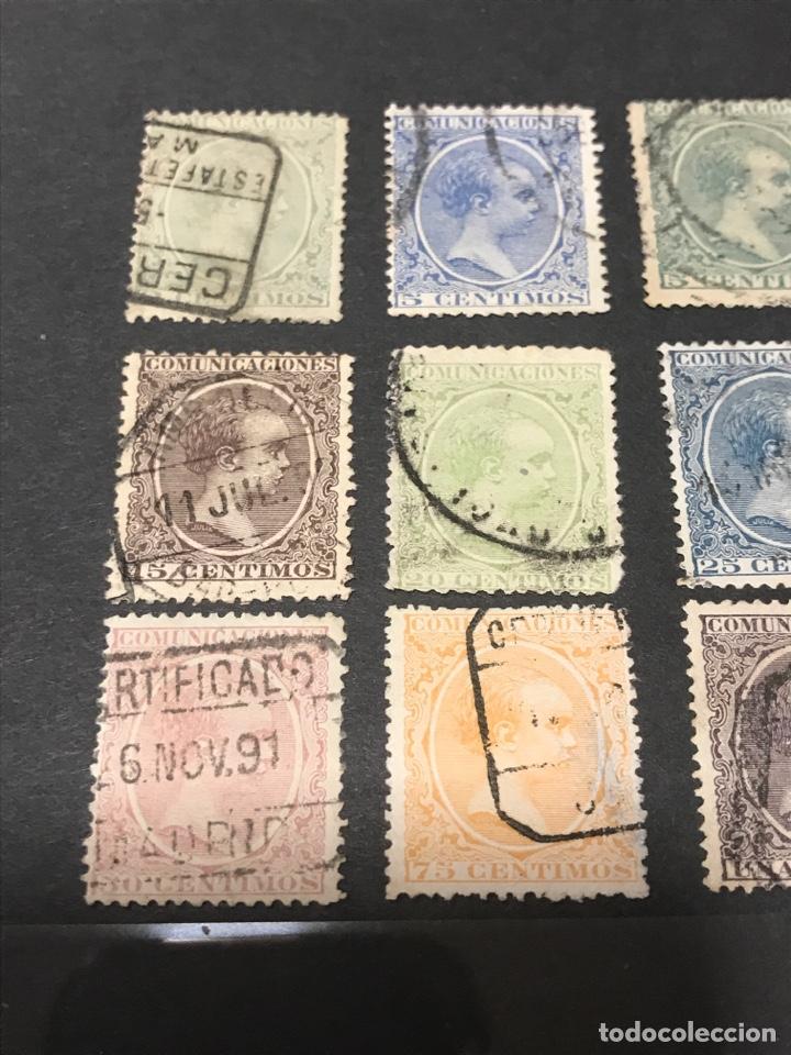 Sellos: Alfonso XIII Pelón 13 de los 16 sellos, usados, los de las fotos - Foto 2 - 241421670
