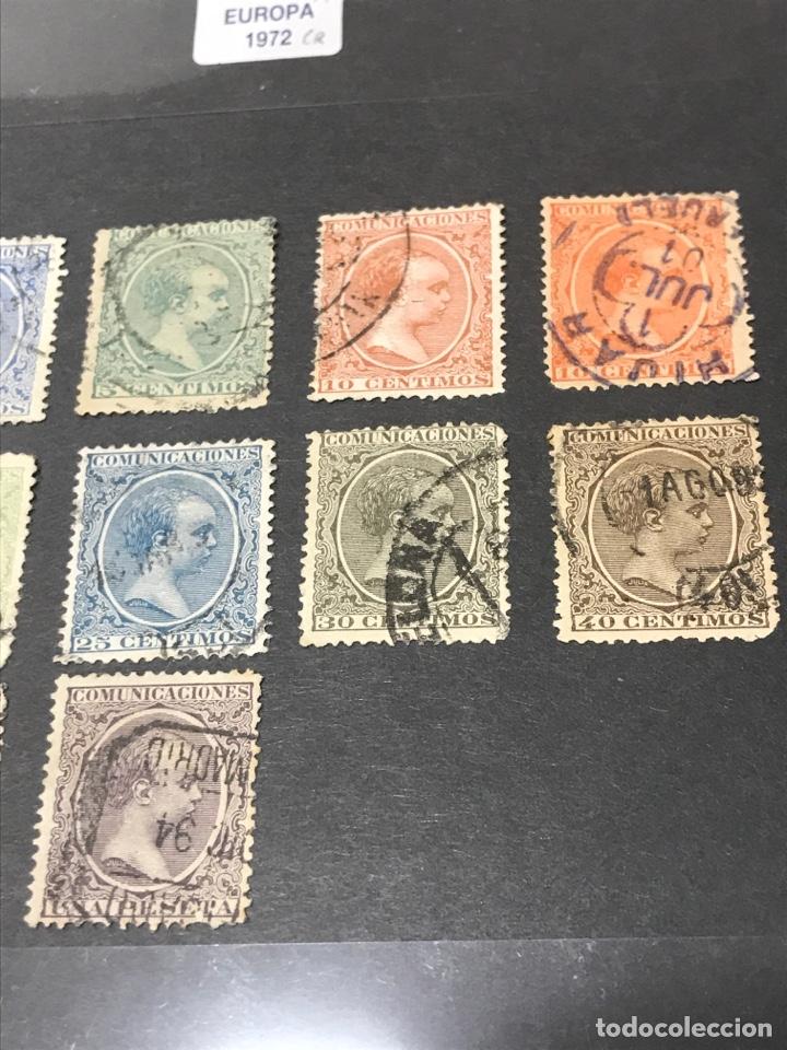 Sellos: Alfonso XIII Pelón 13 de los 16 sellos, usados, los de las fotos - Foto 3 - 241421670