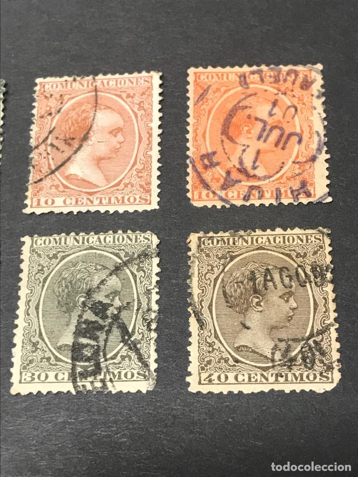 Sellos: Alfonso XIII Pelón 13 de los 16 sellos, usados, los de las fotos - Foto 4 - 241421670