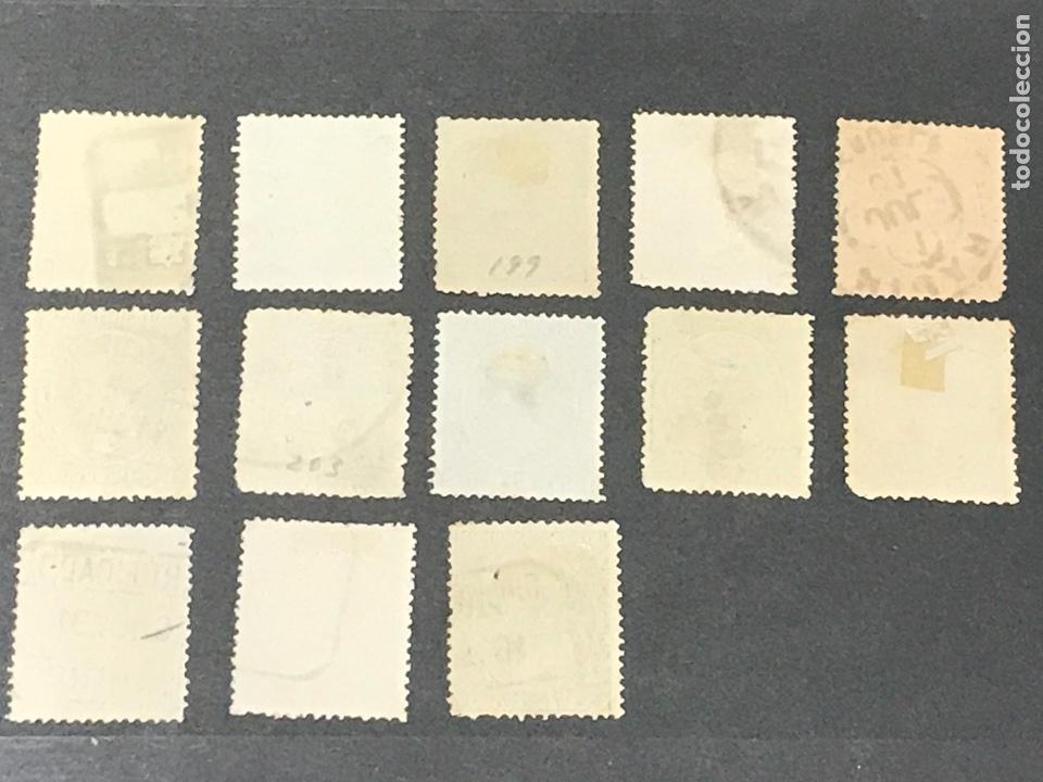 Sellos: Alfonso XIII Pelón 13 de los 16 sellos, usados, los de las fotos - Foto 5 - 241421670