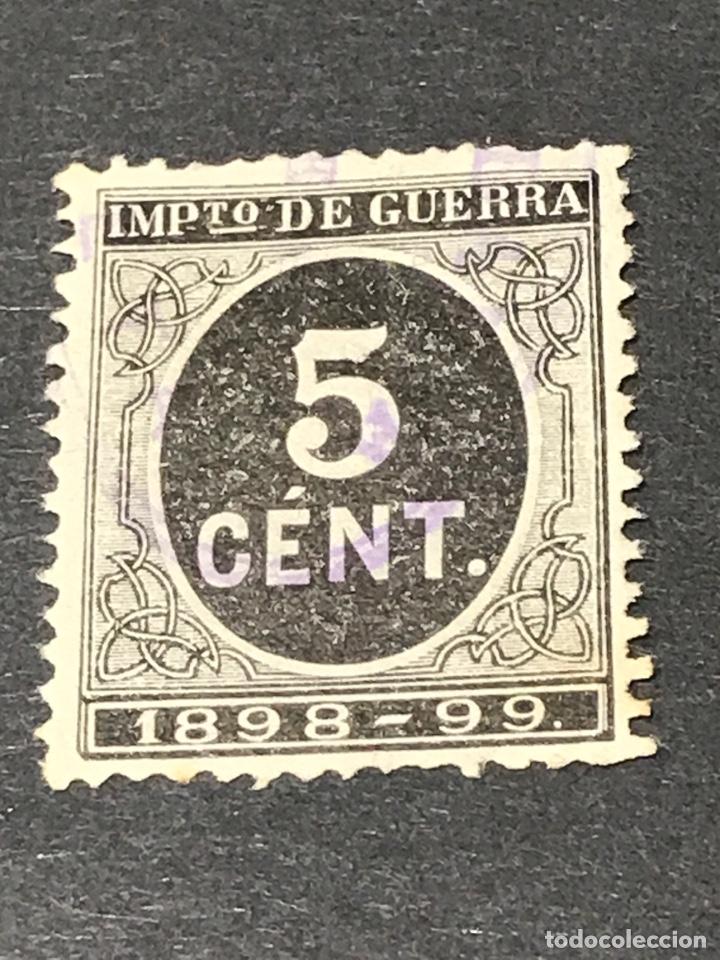 EDIFIL 236 IMPUESTO GUERRA 5 CENT NEGRO, USADO (Sellos - España - Alfonso XIII de 1.886 a 1.931 - Usados)