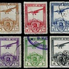 Sellos: ESPAÑA 1930 CONGRESO INTERNACIONAL DE FERROCARRILES EDIFIL 483/488 USADOS SERIE AUTENTICOS V.C..230€. Lote 243272915