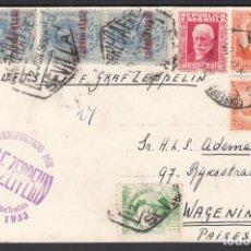 "Francobolli: SEVILLA A WAGENINGEN. (PAÍSES BAJOS) , MARCA ""TRANSPORTADA POR GRAF ZEPPELIN. SEVILLA 1933"". Lote 243273690"