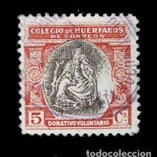 Sellos: 0149 ESPAÑA BENEFICENCIA COLEGIO DE HUERFANOS DE CORREOS EDIFIL Nº B9 D. 11.50 USADO. Lote 244521960