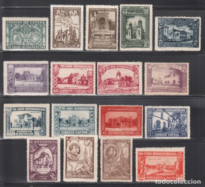 ESPAÑA, 1930 EDIFIL Nº 566 / 582 /*/, PRO UNIÓN IBEROAMERICANA (Sellos - España - Alfonso XIII de 1.886 a 1.931 - Nuevos)