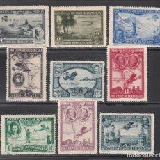 Sellos: ESPAÑA, AÉREOS 1930 EDIFIL Nº 583 / 591 /*/, PRO UNIÓN IBEROAMERICANA. Lote 244651220