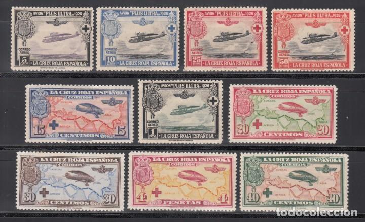 ESPAÑA, AÉREOS 1926 EDIFIL Nº 339 / 348 /*/, PRO CRUZ ROJA ESPAÑOLA (Sellos - España - Alfonso XIII de 1.886 a 1.931 - Nuevos)