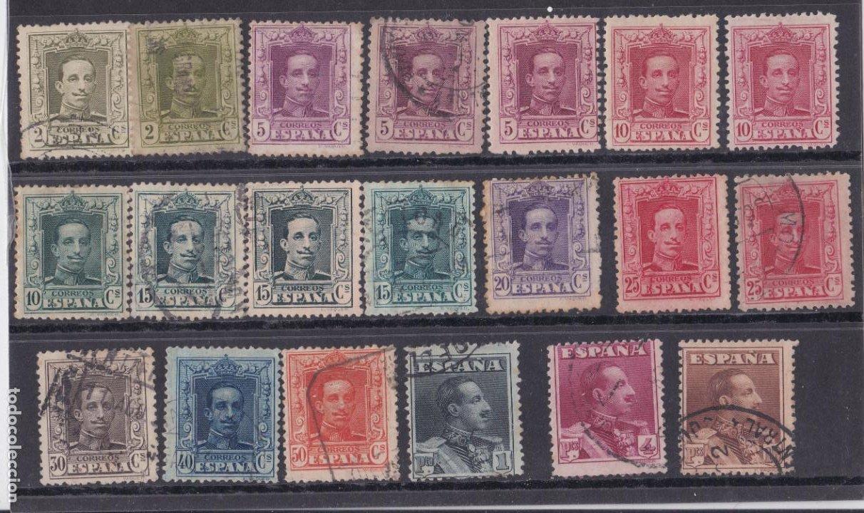 DD13- ALFONSO XIII VAQUER EDIFIL 310/ 23 COMPLETA USADOS (Sellos - España - Alfonso XIII de 1.886 a 1.931 - Usados)