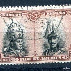 Sellos: EDIFIL 430. 2 PTS CATACUMBAS DE SANTIAGO, MATASELLADO. Lote 244907160