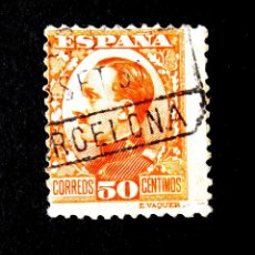 Sellos: 498, SELLO USADO, CON FECHADOR: BARCELONA. ALFONSO XIII.. Lote 245392175