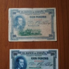 Sellos: LOTE BILLETES 100 PESETAS 1925. Lote 245455695