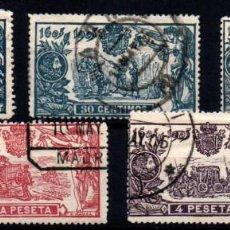 Sellos: ESPAÑA Nº 260/61, 263/5. AÑO 1905. Lote 245889940