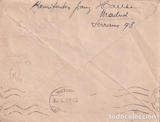 Sellos: Sobre Almería Hotel Simón de Rodolfo Lussnigg. Ambulante Almería Linares. - Foto 2 - 245951360