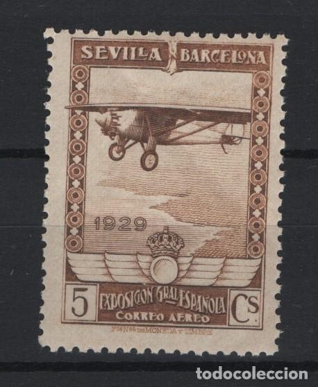 TV_003.G13/ 1929 ESPAÑA, EDIFIL 448 - 5C CASTAÑO MNH** (Sellos - España - Alfonso XIII de 1.886 a 1.931 - Nuevos)