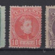 Sellos: 1901-1905 ALFONSO XIII TIPO CADETE EDIFIL 241/43* 245/6* VC 52,00€. Lote 249583810