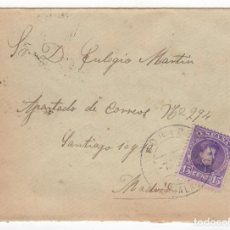 Sellos: 1908 SOBRE FRANQUEADO DE MADRID A MADRID EDIFIL 246(º). Lote 251106905