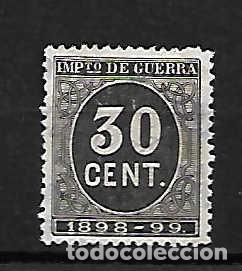 IMPUESTO DE GUERRA . SELLO 1898-99 (Sellos - España - Alfonso XIII de 1.886 a 1.931 - Usados)