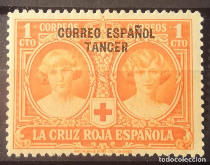 TANGER CORREO AÉREO.1926 SERIE CRUZ ROJA. NUEVO LUJO. 1 CÉNTIMO. SOBREIMPRESO. (Sellos - España - Alfonso XIII de 1.886 a 1.931 - Nuevos)