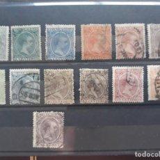 Selos: LOTE 14 SELLOS USADOS DIFERENTES SERIE PELON ALFONSO XIII ESPAÑA 1889. Lote 252226655