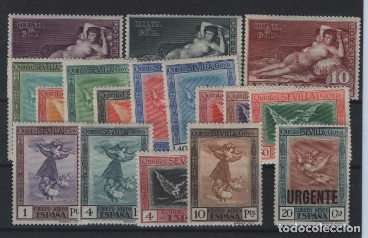 R81/ ESPAÑA 1930, EDIFIL 513/15 Y 517/30 **/*, QUINTA DE GOYA (Sellos - España - Alfonso XIII de 1.886 a 1.931 - Nuevos)