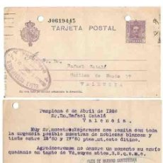 Sellos: ALFONSO XIII 15 CS. PAMPLONA. 1926.. Lote 253428755