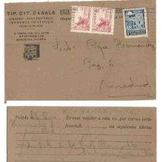 Sellos: AYUNTAMIENTO DE BARCELONA 5 CTS 1942. EL CID 10CTS. Lote 253429010