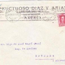 Sellos: SOBRE MALAGA-NOVELDA CON RODILLO Nº 854 (CAT.GOMIS) AÑO 1929. MATASELLO LLEGADA NOVELDA 30-12-30. Lote 253696505