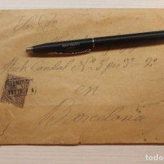 Sellos: CARTERÍA SAN QUINTÍN, 1900, SOBRE Y CARTA. Lote 253829030