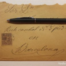Sellos: CARTERÍA SAN QUINTÍN, 1899, SOBRE Y CARTA. Lote 253829140
