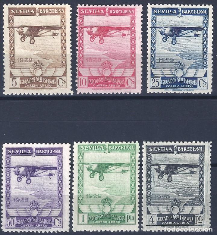 EDIFIL 448-453 PRO EXPOSICIONES SEVILLA Y BARCELONA 1929. VALOR CATÁLOGO: 315 €. MNH ** (Sellos - España - Alfonso XIII de 1.886 a 1.931 - Nuevos)