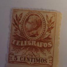 Sellos: SELLO DE ESPAÑA 1905. ALFONSO XIII TELÉGRAFOS 5 CTS. NUEVO. Lote 254142975