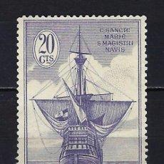 Selos: 1930 ESPAÑA EDIFIL 538 DESCUBRIMIENTO DE AMÉRICA BARCO CARABELA MG* NUEVO SIN GOMA CON FIJASELLOS. Lote 254909380