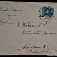 Sellos: ALFONSO XIII CADETE MADRID 1906 SOBRE PUBLICITARIO. Lote 254911695