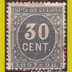 Sellos: FISCALES IMPUESTO DE GUERRA 1897 CIFRAS, ALEMANY Nº 52 *. Lote 254940425