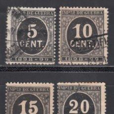 Sellos: ESPAÑA, 1897 EDIFIL Nº 236, 237, 238, 239, CIFRAS, SERIE COMPLETA, 4 VALORES. Lote 255513260