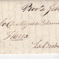 Sellos: CARTA COMPLETA CON SELLO NUM. 210 DE BARCELONA DESTINO LA BISBAL -1886 MATASELLOS TREBOL LA BISBAL. Lote 255532220