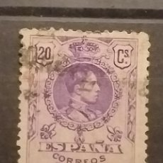 Sellos: SELLO ALFONSO XIII . 1909 . TIPO MEDALLÓN - 20 CTS . USADO.. Lote 256055215