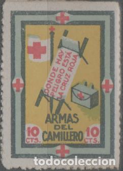 LOTE (24) SELLO ESPAÑA CRUZ ROJA GUERRA CIVIL (Sellos - España - Alfonso XIII de 1.886 a 1.931 - Usados)